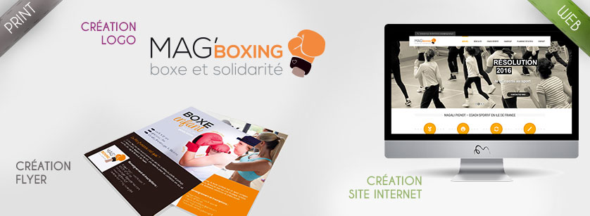 Mag'boxing - flyer site internet logo association sportive