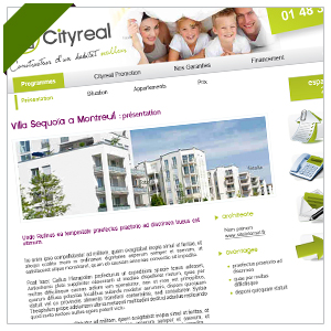 Création webdesign - Cityreal Promotion - agence immobilière