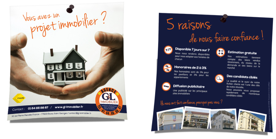 flyers agence immobiliere